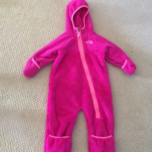 Fleece bunting jacket for infant size 6-16 months